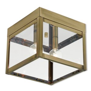 Abbas 2 Light Outdoor Flush Mount