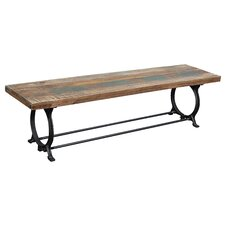 Caroll Wood / Metal Dining Bench by Trent Austin Design