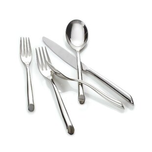 Frond Setting 5-Piece 18/10 Stainless Steel Flatware Set, Service for 1