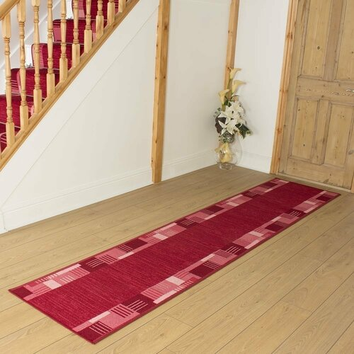 Bale Looped/Hooked Red Indoor/Outdoor Rug ClassicLiving Rug