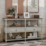 Bentely 57.9'' Solid Wood Console Table by Red Barrel Studio®