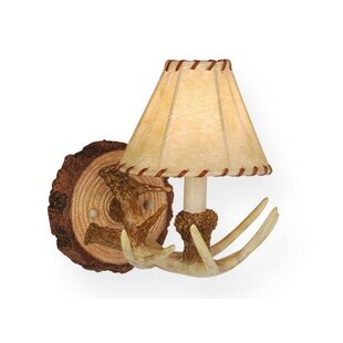 Compare prices Portillo 1-Light Wall Sconce By Loon Peak