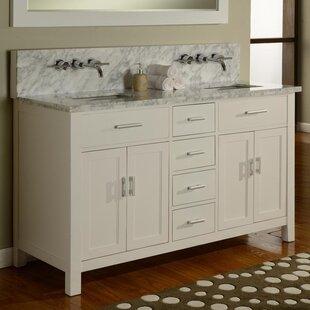 Hutton Spa 63 Double Premium Bathroom Vanity Set with Mirror by Direct Vanity Sink