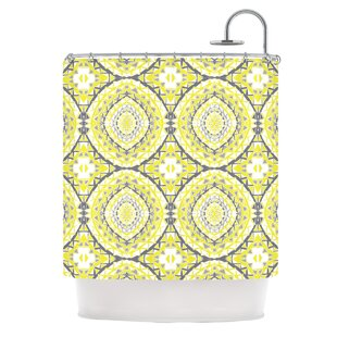 Online Reviews Yellow Tessellation Shower Curtain By KESS InHouse