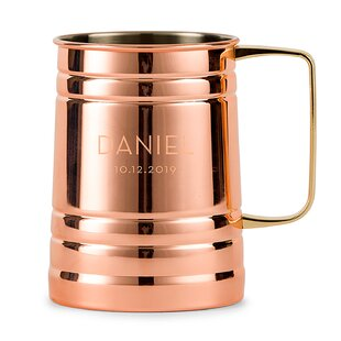 Samaniego Modern Font Personalized Moscow 20 oz. Copper Mug