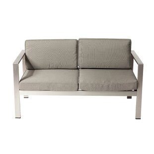 Hillwood Loveseat with Cushions by Rosecliff Heights