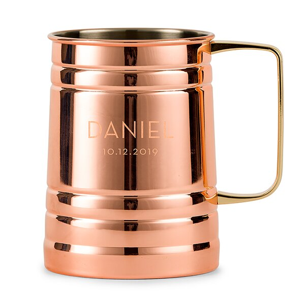 Classic Copper Moscow Mule Mug Personalized 20 oz 2 Lines