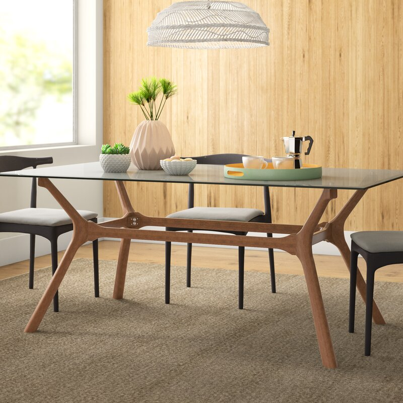 Oliver Glass Top Dining Table Reviews Allmodern