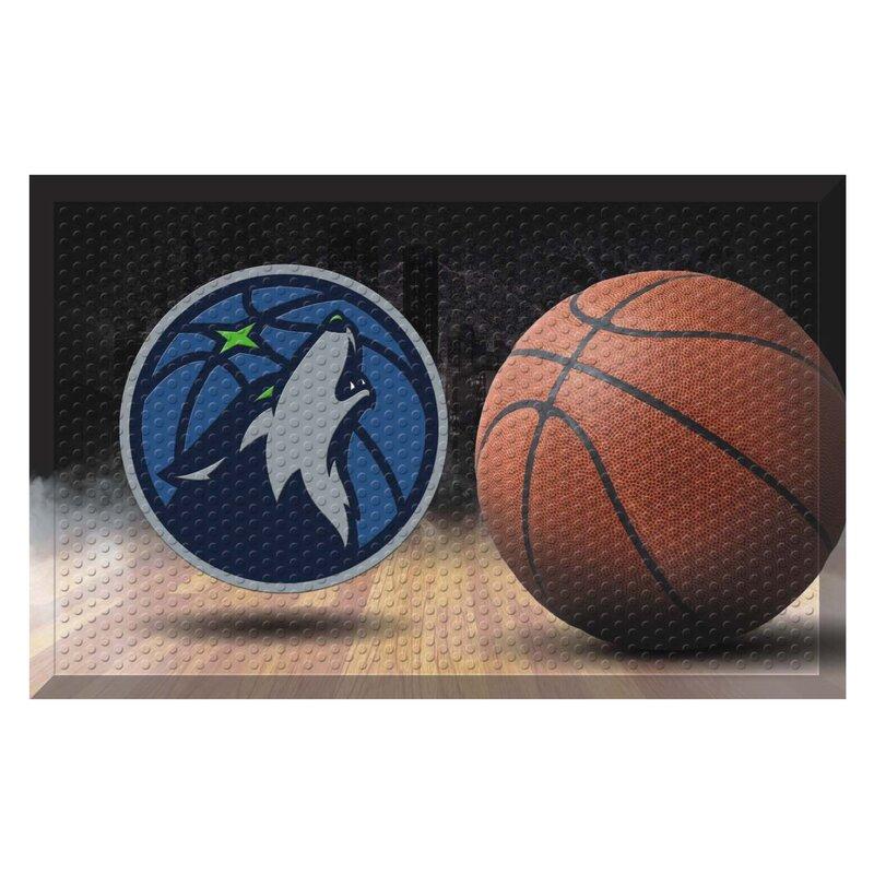 11417 NBA Minnesota Timberwolves Vinyl Door Mat 19x30 FANMATS