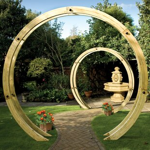Free Standing Flower Circle Arch