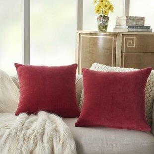 Solid Red Throw Pillows Wayfair