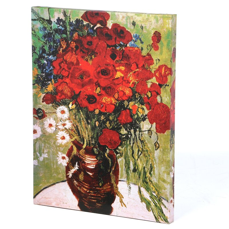 Charlton Home Daisies Poppies By Vincent Van Gogh Painting Print On Wrapped Canvas Reviews Wayfair
