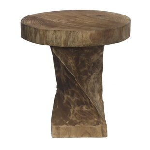 Londonderry Wooden Round Accent Stool by Loon Peak
