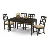 Salman 5 Piece Solid Wood Dining Set by Charlton Home®
