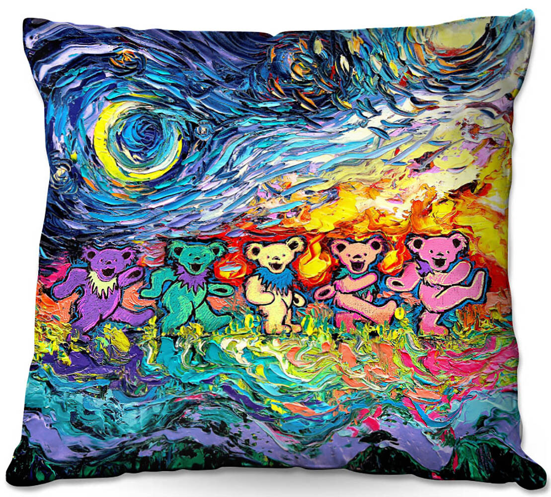 East Urban Home Couch Van Gogh Dancing Bears Pillow Cover Insert Wayfair