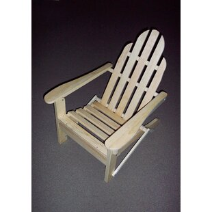 Prairie Leisure Design Folding Wood Adirondack Chair