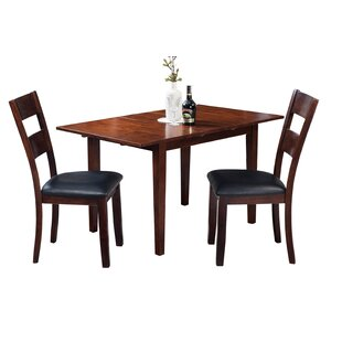 Assante 3 Piece Solid Wood Dining Set Alcott Hill