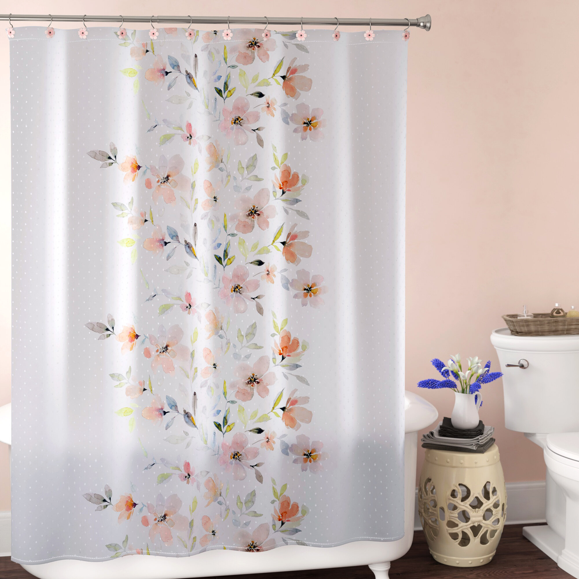 House Of Hampton Dwight Single Shower Curtain Reviews Wayfair