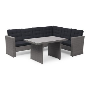 Review 6 Seater Rattan Corner Sofa Set