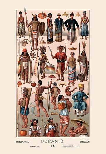 Buyenlarge Tribal Clothing Of Oceania By Auguste Racinet Graphic Art Wayfair