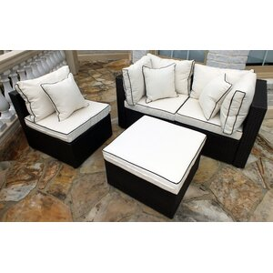 Burruss 4 Piece Sofa Set with Cushions