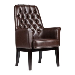 Great Price Dipalma High Back Traditional Leather Guest Chair by Darby Home Co Reviews (2019) & Buyer's Guide