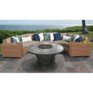 Medina 6 Piece Outdoor Sectional Seating Group with Cushions
