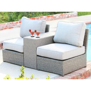 Simmerman 3 Piece Rattan Seating Group with Cushions