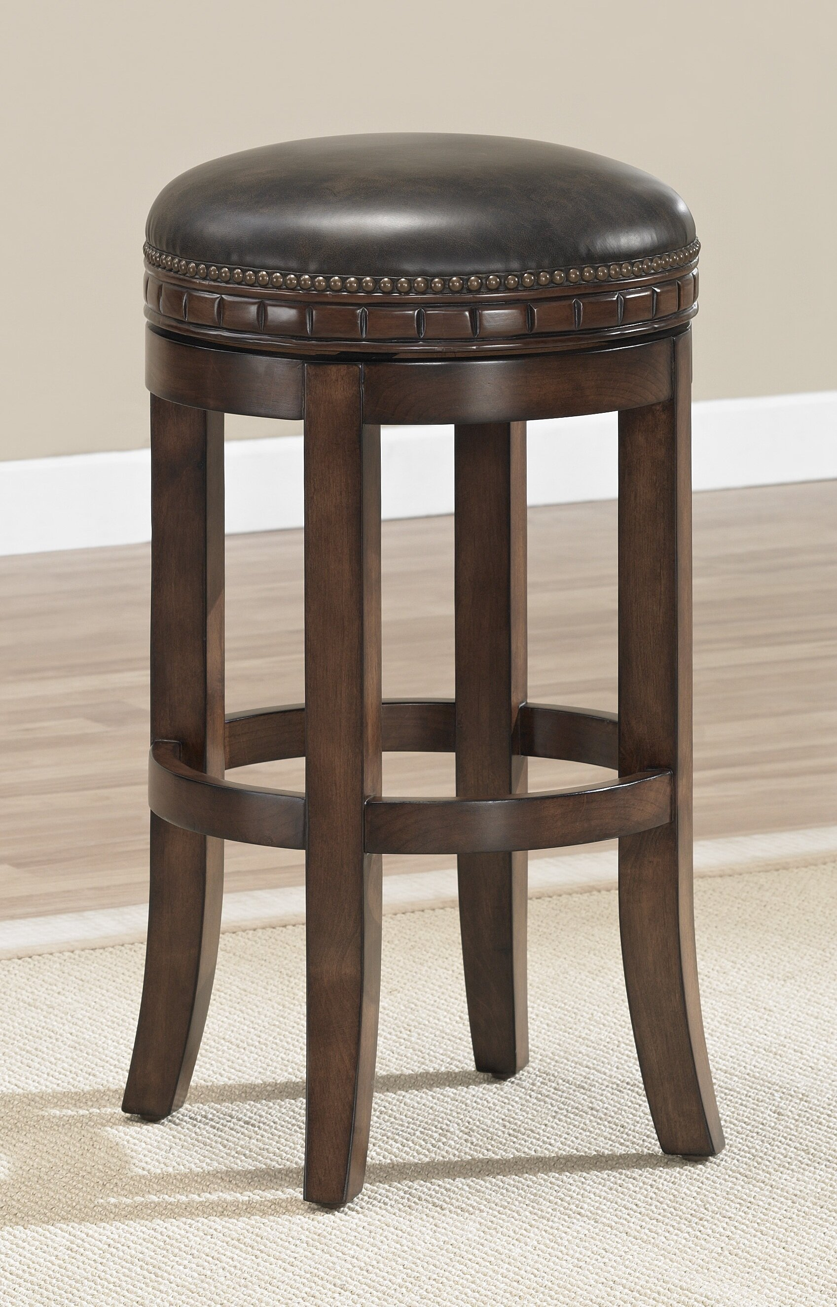 Darby Home Co Bulwell 26 Swivel Solid Wood Bar Stool Reviews