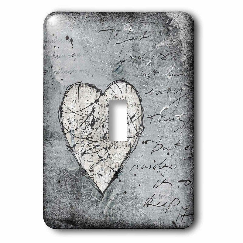 3drose Heart Grunge 1 Gang Toggle Light Switch Wall Plate Wayfair