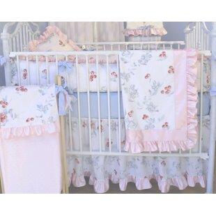 Best Cherry Blossom 3 Piece Crib Bedding Set ByBlueberrie Kids
