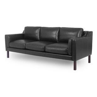 Rolando Mid-Century Leather Sofa