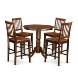 Speights 5 Piece Counter Height Pub Table Set by Charlton Home®