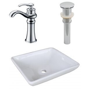 Affordable Price Ceramic Square Vessel Bathroom Sink with Faucet ByRoyal Purple Bath Kitchen
