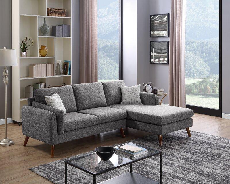 Bair Linen Sectional Sofa Beige