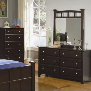 Velasco 6 Drawer Double Dresser With Mirror by Harriet Bee