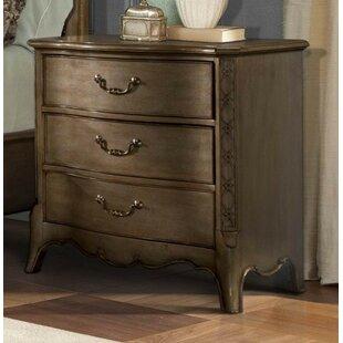 Landman Wooden 3 Drawer Nightstand by One Allium Way