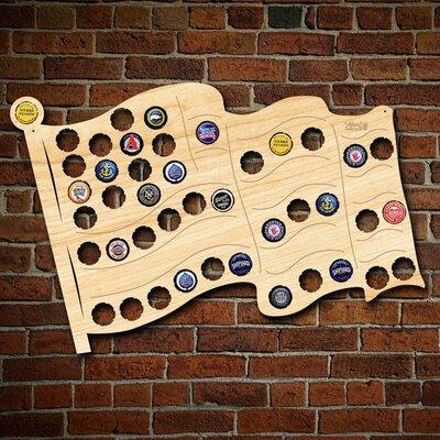Home Wet Bar Michigan Beer Cap Map Wall Décor   Wayfair