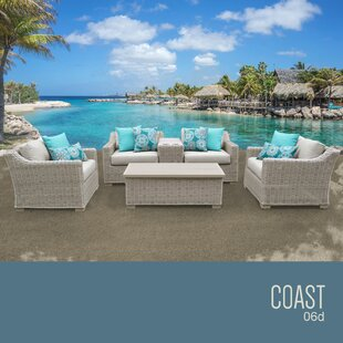 TK Classics Coast 6 Piece Sofa Set with Cushions