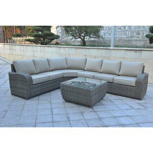 Shondra 5 Piece Rattan Sectional Seating Group