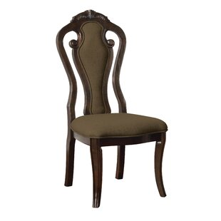 Fleur Upholstered Dining Chair (Set of 2) by Astoria Grand