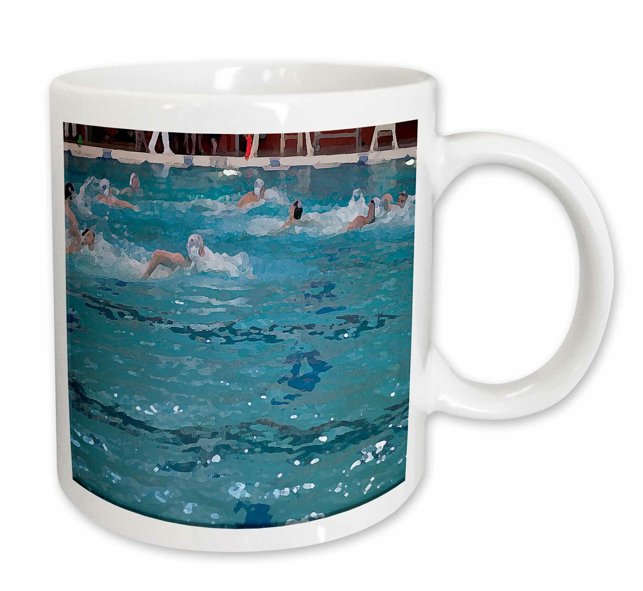 East Urban Home Boys Water Polo Team Swimming To Get The Ball Into The Net At A Swimming Pool In Cedar City Utah Coffee Mug Wayfair