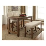 Kamar Contemporary Counter Height 4 Piece Dining Set by Red Barrel Studio®