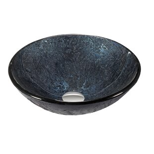 Compare prices Glass Circular Vessel Bathroom Sink ByLegion Furniture