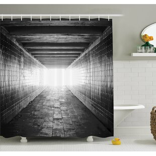 Horror House Picture of Light at the End of Tunnel Exit Fear City Abandoned Shower Curtain Set