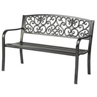 Trademark Innovations Steel Garden Bench