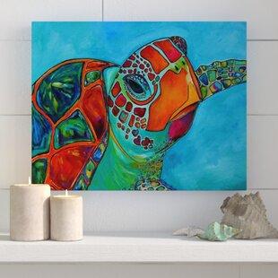 U0027Seaglass Sea Turtleu0027 Painting Print On Wrapped Canvas