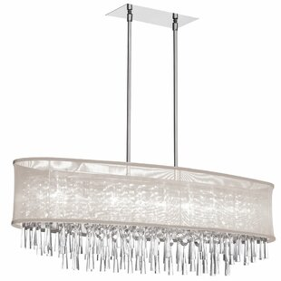Willa Arlo Interiors Deverel 8-Light Metal Kitchen Island Pendant