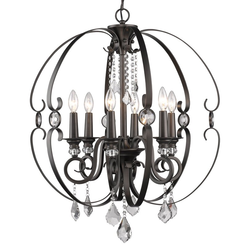 Willa Arlo Interiors Hardouin 6 Light Globe Chandelier Reviews
