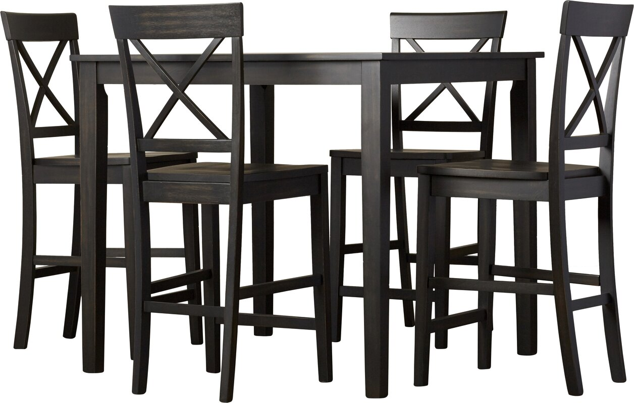 Superb Reeves 5 Piece Counter Height Dining Set